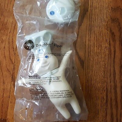 """Pillsbury Doughboy Rubber 8.5"""" Squeeze Doll Figure Stand 2008 Sealed NIP Toy New"""