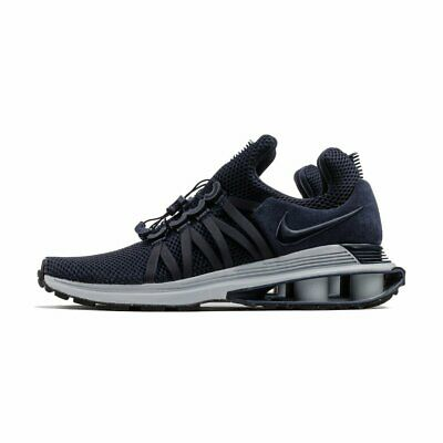 new product 1cc9d c43c1 NEW Nike Shox Gravity Men s Running Shoes Obsidian Blue Wolf Grey AR1999-402
