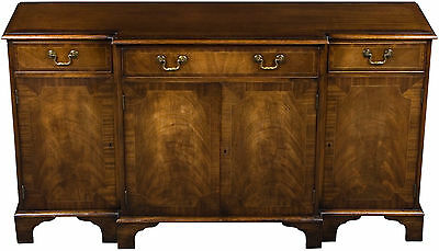 Vintage Antique Style Breakfront Mahogany Console Cabinet Sideboard Buffet FS!