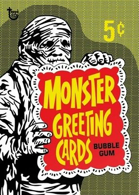 2018 Topps 80th Anniversary Wrapper Art Card #106 - 1965 Monster Greeting Cards