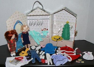"""Madeline Nicole 8"""" doll clothes lot Eden outfits clothes case Christmas pajamas"""