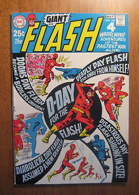 The Flash #187, 1969 (Vf+) Giant Issue! White Pgs! Jaw-Dropper!