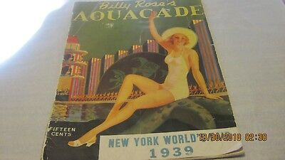 Billy Rose's Aquacade New Yorks Worlds Fair 1939 Magazine (Used)