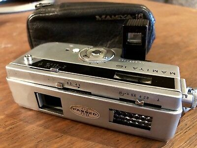 Mamiya 16 16mm Film Subminiature Automatic Vintage Camera with Leather Case