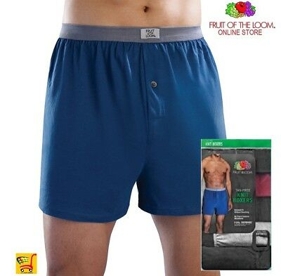 Fruit of the Loom Big Man's Knit Boxers  Wicking & Odor protection Value Packs