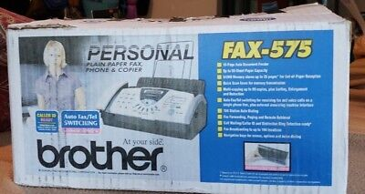 New Brother Fax-575 Personal Plain Paper Fax Phone and Copier