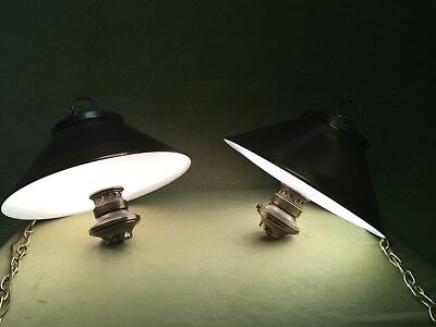 RARE PAIR DANISH Mid Century Modern COPPER Ceiling Lamp Light POULSEN HENNINGSEN