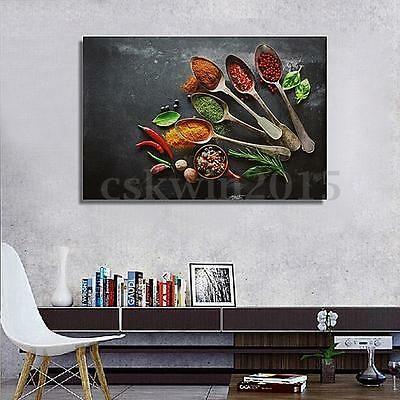 Modern Abstract Picture Kitchen Flavors Canvas Oil Painting Wall Decor Unframed