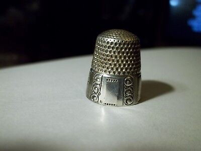 Antique Sterling Silver FANCY Collectible Thimble