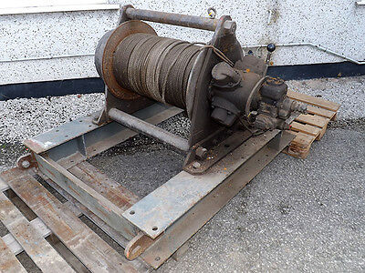 Pneumatic Motor Wire Rope Cable Pulling Winch Hoist - 2 Ton