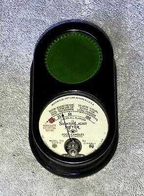"Vintage 1939 ""Sight Light"" Foot Candle Light Meter * Model 703 Type 5"