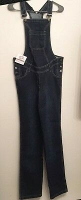 Torelle Maternity Denim Jean Overalls Strap Jumpsuit Rompers Size Small   (G7)