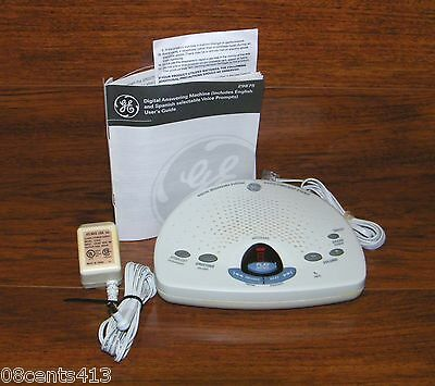 GE Digital Messaging System With Voice / Time / Day Stamp (29875GE1-B)