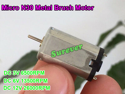 2PCS DC3V-5V 16000-26000rpm High Speed Precise N10 Micro Motor For DIY Toy Parts