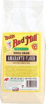Bob's Red Mill Organic Amaranth Flour 22 oz Case of 4 Gluten Free