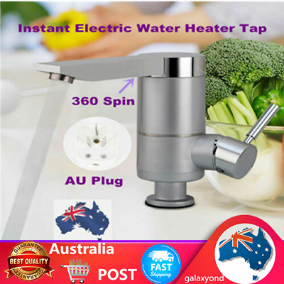 Instant Cold&Hot Water Heater Faucet Tap Electric Kitchen Mixer Basin Sink