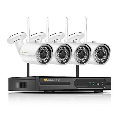 Wireless 1080P NVR WiFi Security Camera System Outdoor 4CH 960P Home Audio CCTV