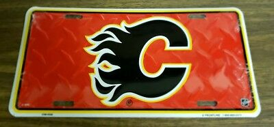 Calgary Flames NHL Hockey Metal Raised Commemorative License Plate