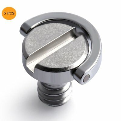 """5Pcs 1/4"""" Screw with D Ring for Camera Tripod / Monopod / Quick Release Plate H9"""