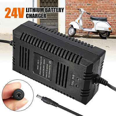 24V Scooter Battery Lithium Li-ion Charger 29.4V 2A For Electric Bike Bicycle