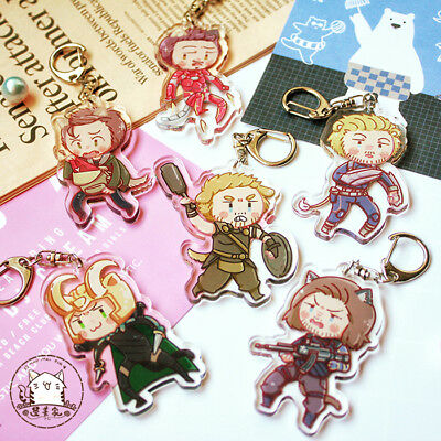Marvel The Avengers Hannibal Bukcy Steve Harry Embroidery Amulet Keychain Gift N