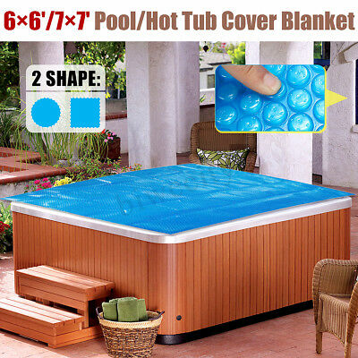 6ft/7ft Round/Square Swimming Pool Spa Hot Tub Cover 400μm Solar Thermal Blanket