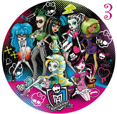 Monster High 7 Inch Edible Image Cake & Cupcake Toppers.