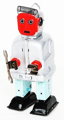 Red Face Mechanic Robot Tin Toy