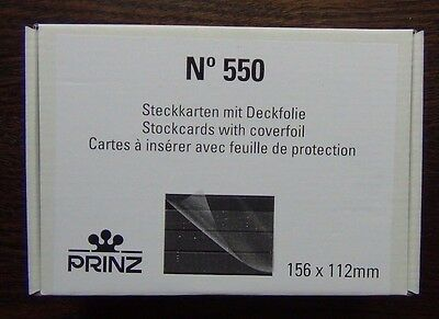 Prinz Quality Stockcards - Approval cards 3 strips with coverfoil 156 x 112mm