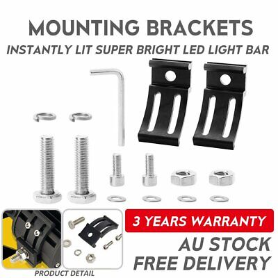 2x Universal Mounting Brackets Mount Screw Kit For LED Work Light Bar Truck Car