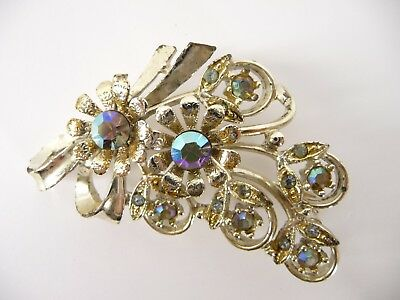Vintage rhinestone brooches unsigned