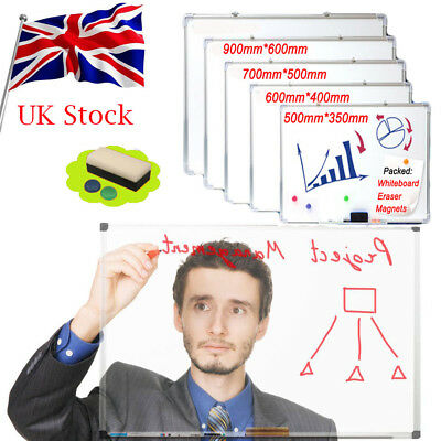 Magnetic Whiteboard Office School Dry Wipe Drawing Board S/ M/ L Various Size UK