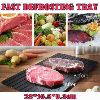 Magic Fast Metal Thawing Plate Defrosting Tray Defrost Meat for Kitchen Cooking