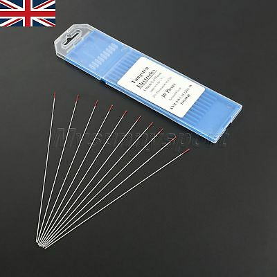"""New Red TIG Welding Tungsten Electrode 2% Thoriated .040""""x7"""" 10Pcs Accessories"""