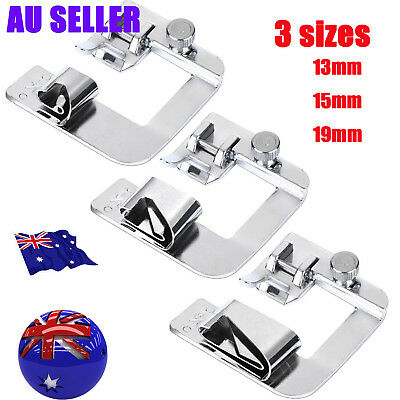 3Pc Domestic Hemming Cloth Strip Presser Foot Sewing Machine Hemmer Rolled Hem S