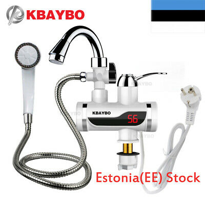 3000W Temperature Display Instant Hot Water Tap Tankless Electric Faucet EU-PLUG