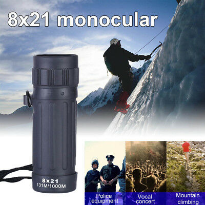 8x21 Monocular Telescope Camping Hunting Sports Telescope Handy Scope Monocular