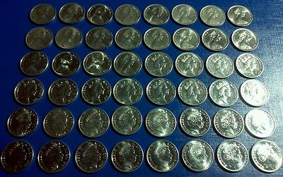 5 cent coin collection 1966 to 2018 1972 included all circulated years over 50