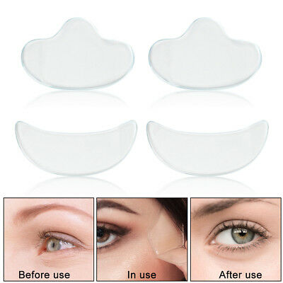 4pcs Silicone Facial Wrinkle Pad Anti-Aging Reusable Eye Pads for Wrinkle Care