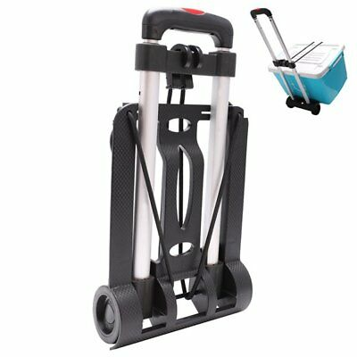 Portable Folding Luggage Cart Hand Trolley Wheels Truck Cargo Cart 35kg UM