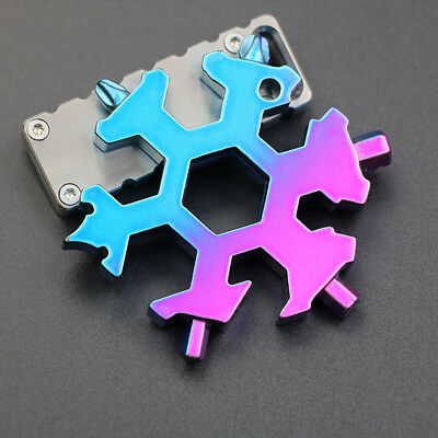 19-in-1 Multi-tool Combination Compact Portable Outdoor Snowflake Tool Card Hot