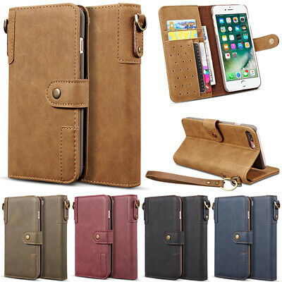 Luxury Genuine Cowhide Leather Wallet Case Cover for iPhone X XS Max XR 6 7 8