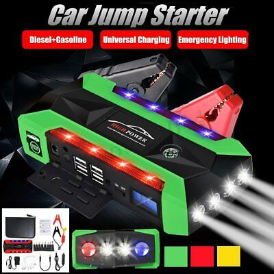 89800mAh 600AMP 12V USB Car Jump Starter Emergency Charger Battery Power Bank