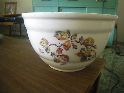 * Large Stoneware White Mixing Bowl French Country Market Chic