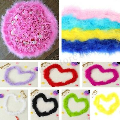 2M Boas Marabou Feather Boa For Fancy Dress Party Burlesque Various Craft New