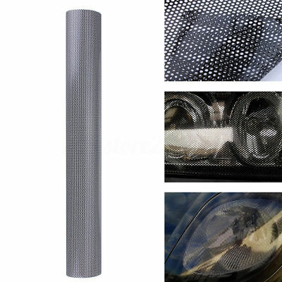 30CM x 106CM Headlight Tint Perforated Film Mesh Like Fly Eye MOT Legal Tinting