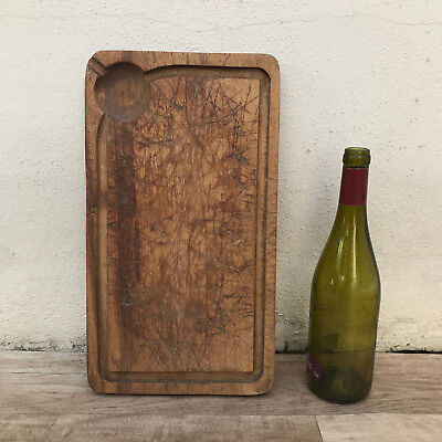 Antique Vintage French Bread Or Chopping Cutting Board Wood 3110186