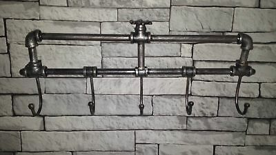 Vintage Industrial Style Wall Mounted Coat Key Hooks Rack Towel Rail Urban Chic