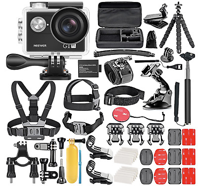 Neewer G1 Ultra HD 4K Action Camera + 50 accessory kit, Xmas Gift Present 2018