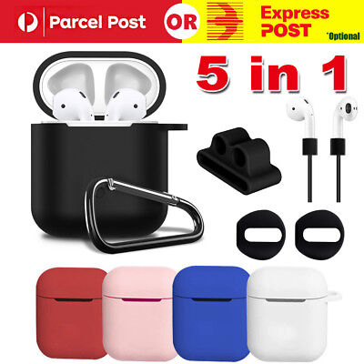 Strap Holder & Silicone Case Cover Skin For Apple Airpod Accessories Airpods AU